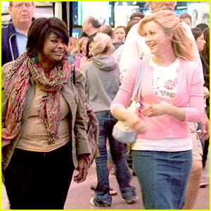 Julianne Hough & Octavia Spencer Film on Fremont Street