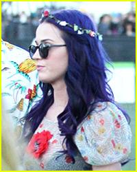 Katy Perry: New Deep Blue Hair