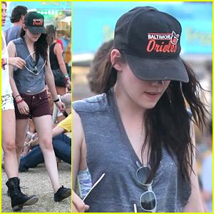 Kristen Stewart Checks Out Coachella