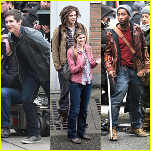 Percy Jackson: Logan Lerman Keeps Filming with Nathan Fillion