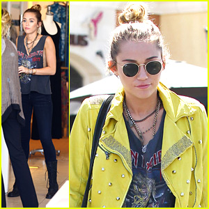 Miley Cyrus: Shopping at 'Theodore' with Mom Tish