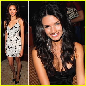 Nina Dobrev & Alice Greczyn: 'Glamour' Book Party!