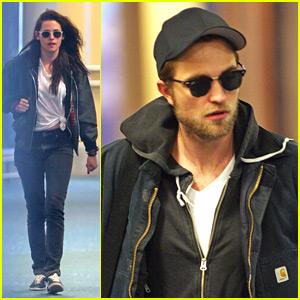 Robert Pattinson & Kristen Stewart Arrive For 'Breaking Dawn Part 2' Re-Shoots