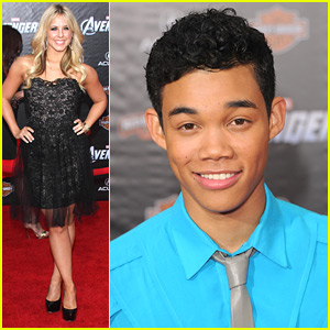 Roshon Fegan & Chelsie Hightower: 'The Avengers' Premiere Pair