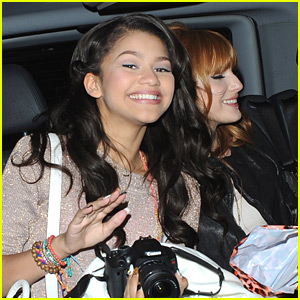 Zendaya & Bella Thorne Depart Disney Store