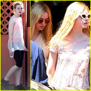 Dakota & Elle Fanning: Sisterly Stroll