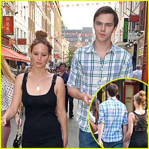 Jennifer Lawrence: London Town with Nicholas Hoult