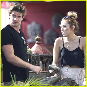 Miley Cyrus & Liam Hemsworth: Garden Shopping Sweeties