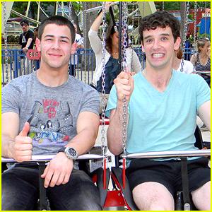 Nick Jonas: Six Flags with Michael Urie!