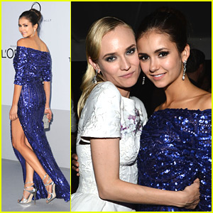 Nina Dobrev: amFar Cinema Against AIDS Gala Glam