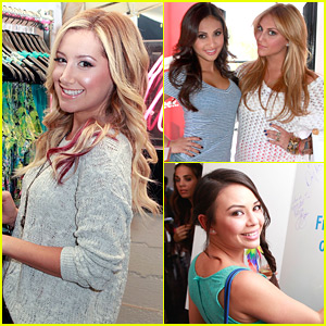 Ashley Tisdale: Colgate Optic Beauty Bar with Janel, Francia & Cassie!