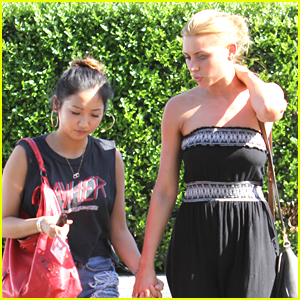 Brenda Song: Lunch with Aly Michalka!