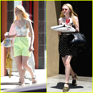 Dakota & Elle Fanning: Panda Express Pair