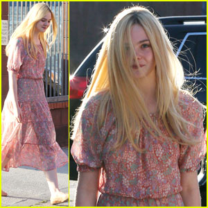 Elle Fanning: Business Meeting in L.A.