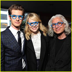 Emma Stone & Andrew Garfield: Blue Glasses Goofy