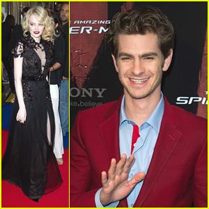Emma Stone & Andrew Garfield: 'Spider-Man' in Paris