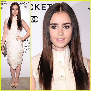 Lily Collins: Chanel 'Little Black Jacket' Event!