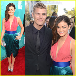Lucy Hale: MTV Movie Awards with Chris Zylka