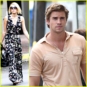 Miley Cyrus Visits Liam Hemsworth in New Orleans