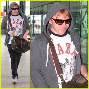 Rupert Grint Heads Into Heathrow Airport