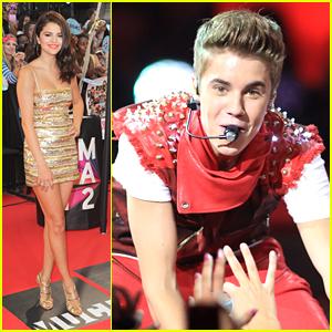 Selena Gomez & Justin Bieber: MuchMusic Video Awards 2012