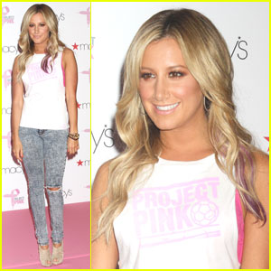 Ashley Tisdale: Puma Project Pink Launch!