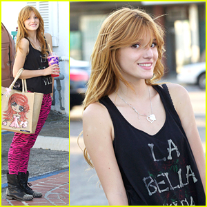 Bella Thorne: Pink Zebra Pants!