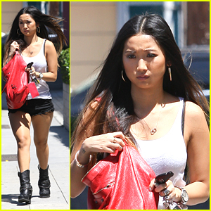 Brenda Song Runs Wednesday Errands