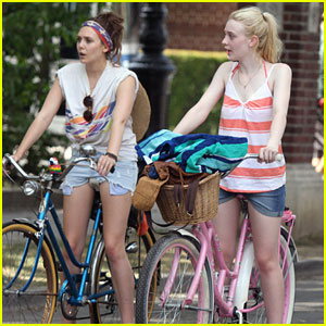 Dakota Fanning & Elizabeth Olsen: 'Very Good' Bicycle Girls