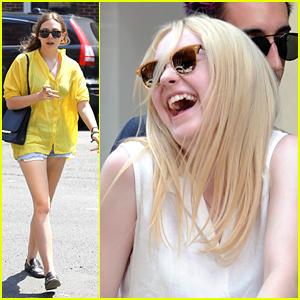 Dakota Fanning  & Elizabeth Olsen: Jake Gyllenhaal Stops By 'Very Good Girls'