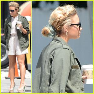 Demi Lovato: Blue Bun Bootcamp Arrival