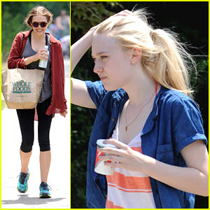 Elizabeth Olsen & Dakota Fanning: Back To Work on 'Very Good Girls'