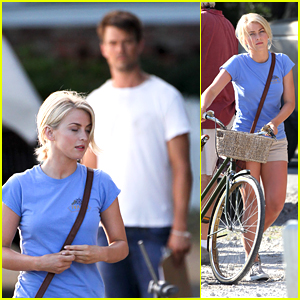 Julianne Hough Bikes Around 'Safe Haven' Set