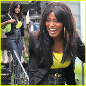 Keke Palmer: On Set of  'Abducted'