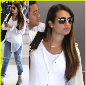 Lea Michele: LAX Airport Chic