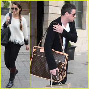 Lea Michele & Cory Monteith: Goodbye Paris!