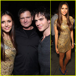 Nina Dobrev & Ian Somerhalder: Comic Con Samsung Party