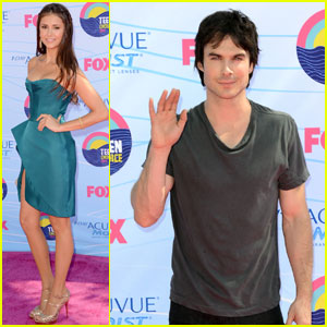 Nina Dobrev & Ian Somerhalder - Teen Choice Awards 2012