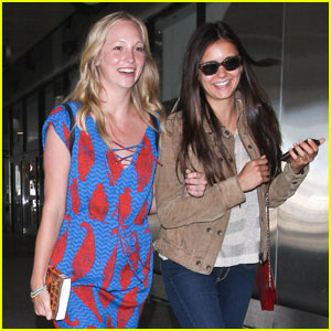 Nina Dobrev: 'Vampire Diaries' Cast Takes Flight!