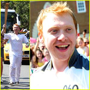 Rupert Grint Runs With Olympics Torch