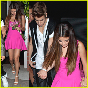 Justin Bieber: Pink Roses for Selena Gomez's Birthday!