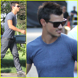 Taylor Lautner: 'Grown Ups 2' Set