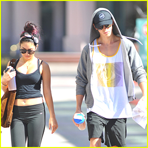 Vanessa Hudgens Works It Out with Austin Butler