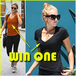 Win a FREE Soffe 'Burnout' Tee -- Just Like Miley & Nikki!