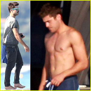 Zac Efron: Shirtless on July 4th in Saint-Tropez!