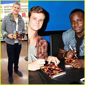 Alexander Ludwig, Dayo Okeniyi & Jack Quaid: 'The Hunger Games' DVD Signings!