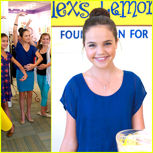 Bailee Madison: Alex's Lemonade Stand in Atlanta