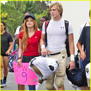Bella Thorne Cheers on Tristan Klier At His Football Game