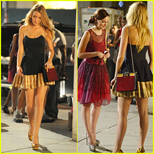 Blake Lively & Leighton Meester: Madison Square Park Pair