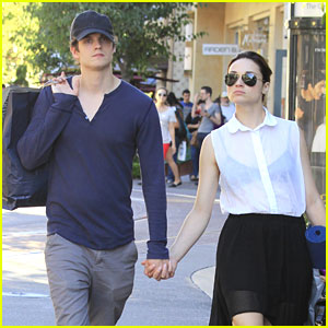 Crystal Reed & Daniel Sharman: Holding Hands at The Grove